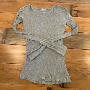 Anthropologie Suss Gray Long-Sleeve Tee Size 3